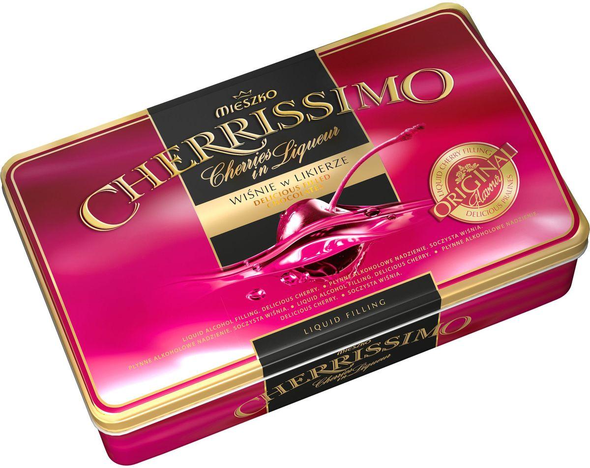 Mieszko Черрисимо набор шоколадных конфет, 310 г (жестяная коробка)14352