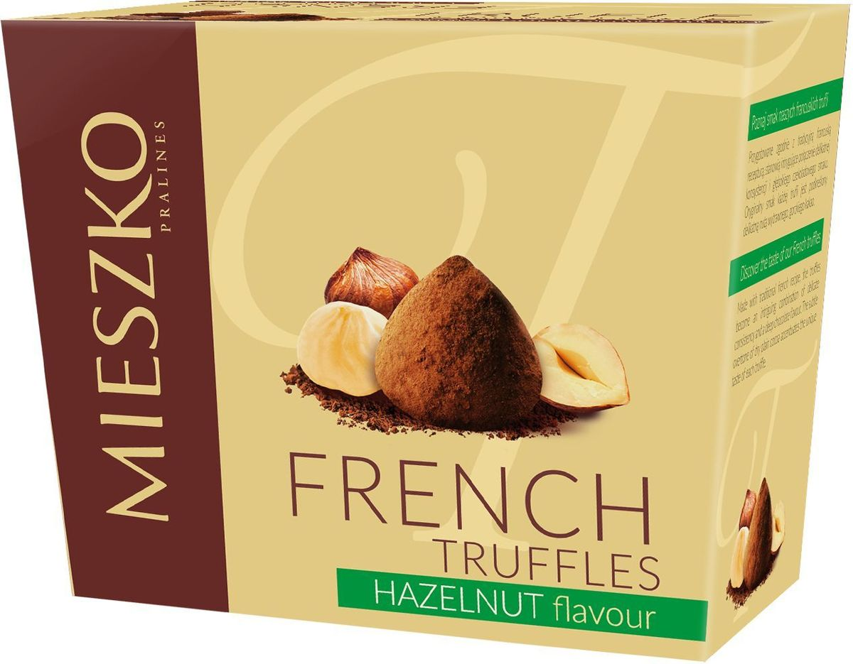 Mieszko Трюфель Французский со вкусом ореха набор шоколадных конфет, 175 г15106Французские трюфели являются идеальным выбором при поиске чрезвычайно привлекательного и небольшого подарка. Это сложное кондитерское изделие имеет удивительно уникальный шоколадный аромат и мягкий вкус. Своим уникальным характером французские трюфели обязаны своим горьким нотам натурального какао, вкус которого оставит человека в отличном настроении.Уважаемые клиенты! Обращаем ваше внимание, что полный перечень состава продукта представлен на дополнительном изображении.