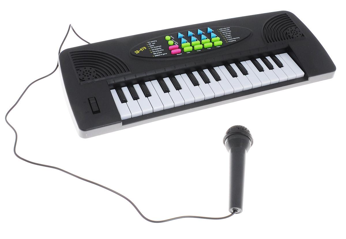 ABtoys Синтезатор DoReMi 32 клавиши с микрофоном