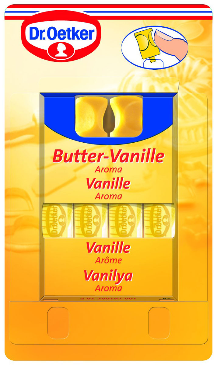 Dr.Oetker ароматизатор сливочная ваниль, 4 шт по 2 мл автомобильные ароматизаторы chupa chups ароматизатор воздуха chupa chups chp801