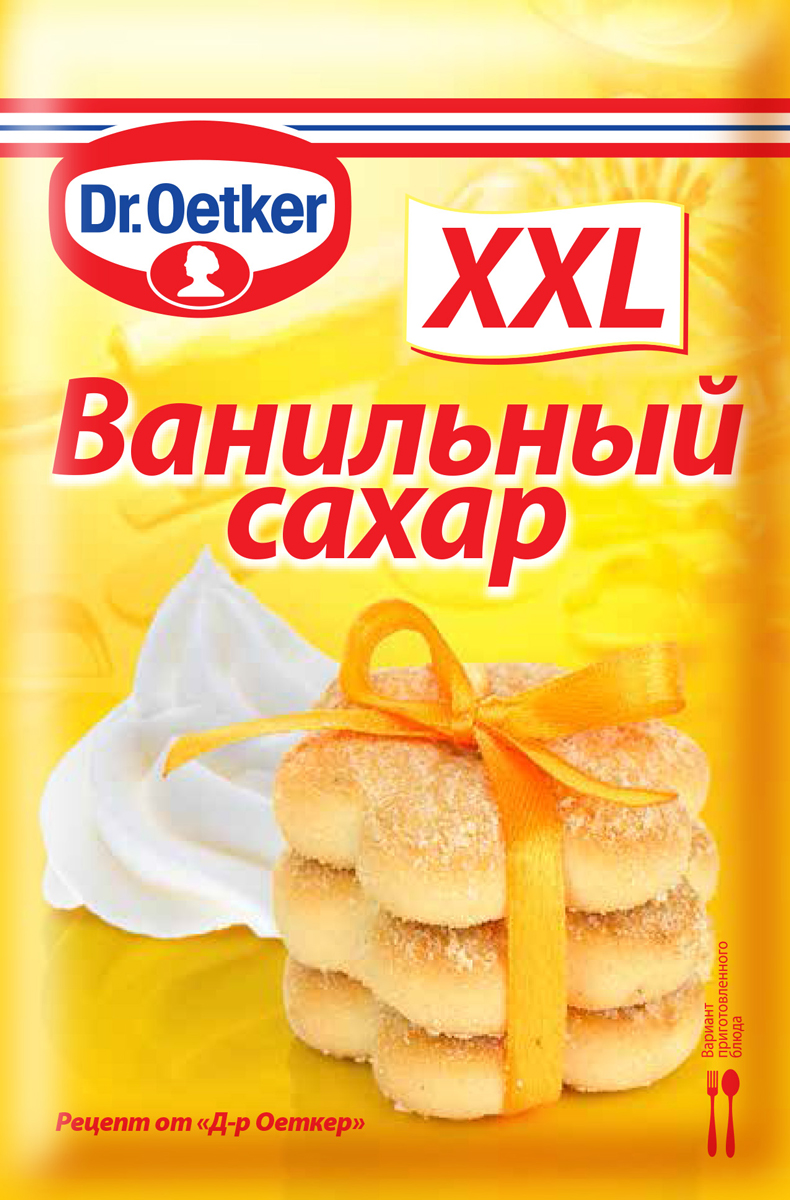Dr.Oetker ванильный сахар XXL, 40 г1-84-010200Ванильный сахар Dr.Oetker предназначен для придания нежного аромата мучным изделиям, кремам, коктейлям, сладким блюдам. Нежнейший аромат ванили и сладость выпечки не оставит равнодушными членов вашей семьи.Приправы для 7 видов блюд: от мяса до десерта. Статья OZON Гид
