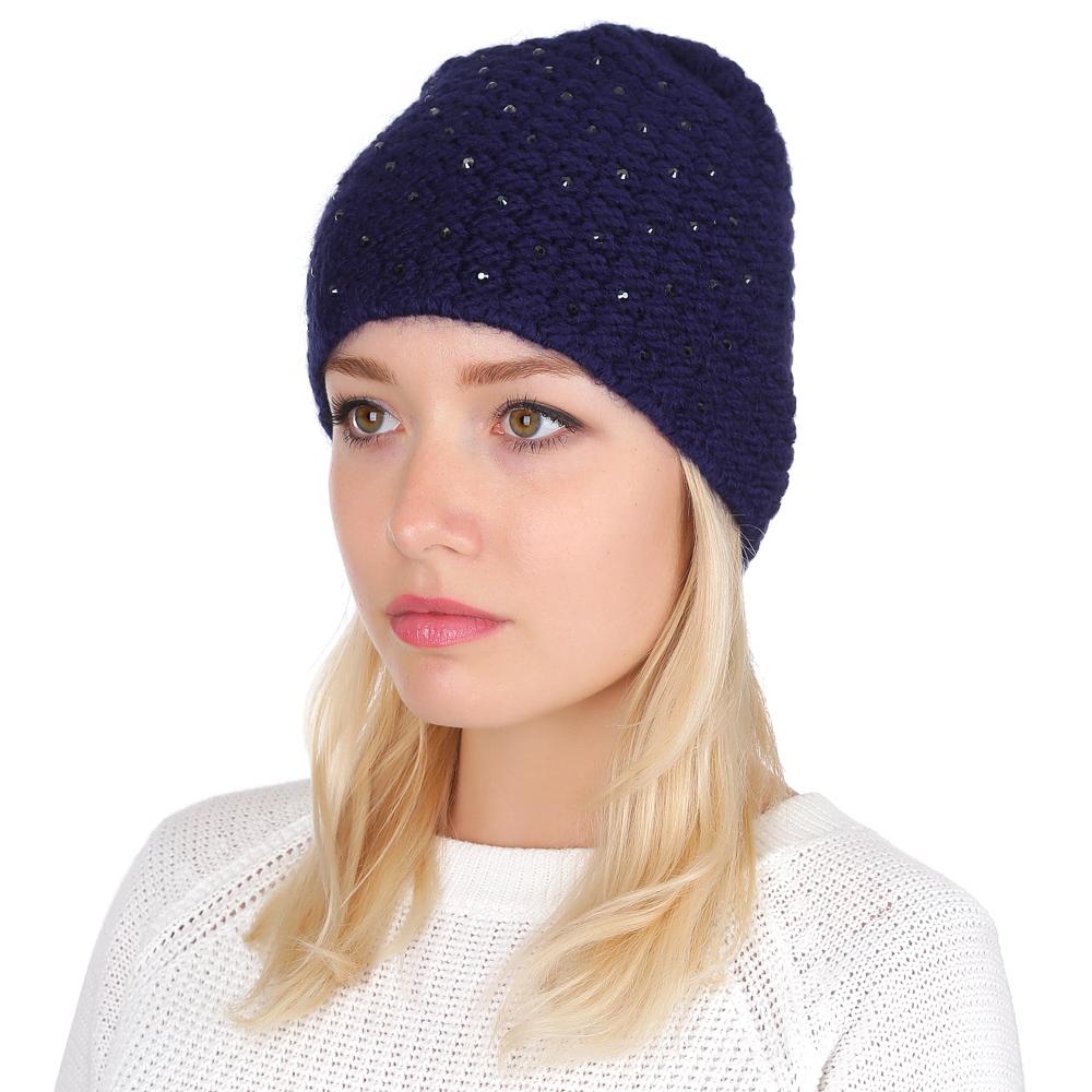 Шапка женская Fabretti, цвет: синий. F2016-15. Размер универсальныйF2016-15-98Классическая женская шапка от итальянского бренда Fabretti выполнена из натуральной и мягкой шерсти с добавлением волокон альпаки. Яркие стазы превратили модель в стильный и изысканный аксессуар, который подойдет для создания как повседневных, так и вечерних образов.