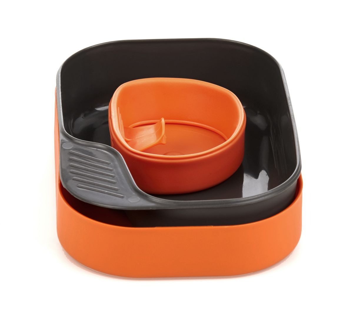 Набор походной посуды Wildo Camp-a-Box Basic, портативный, цвет: оранжевый, 3 предмета