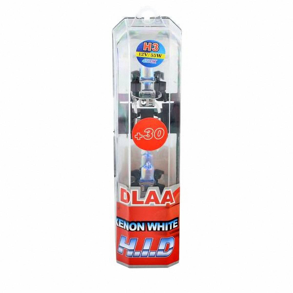 Автолампа галогеновая Skyway H3. Xenon White+30. 2 шт. H3-12V55W-P BH3-12V55W-P BГалогеновые лампы Xenon White+30 представляют собой очень яркие лампы, имитирующие свет ксенона. Достигается это за счет специального напыления на газонаполненные лампы, а точнее на колбы, в которые под высоким давлением закачан газ.Данные галогеновые лампы не создают неудобств водителям встречныхавтотранспортных средств, не превышают допустимую нагрузку на бортовую сеть автомобиля, безопасны и долговечны и отвечают всем без исключения стандартам качества.Температура света: 4500.
