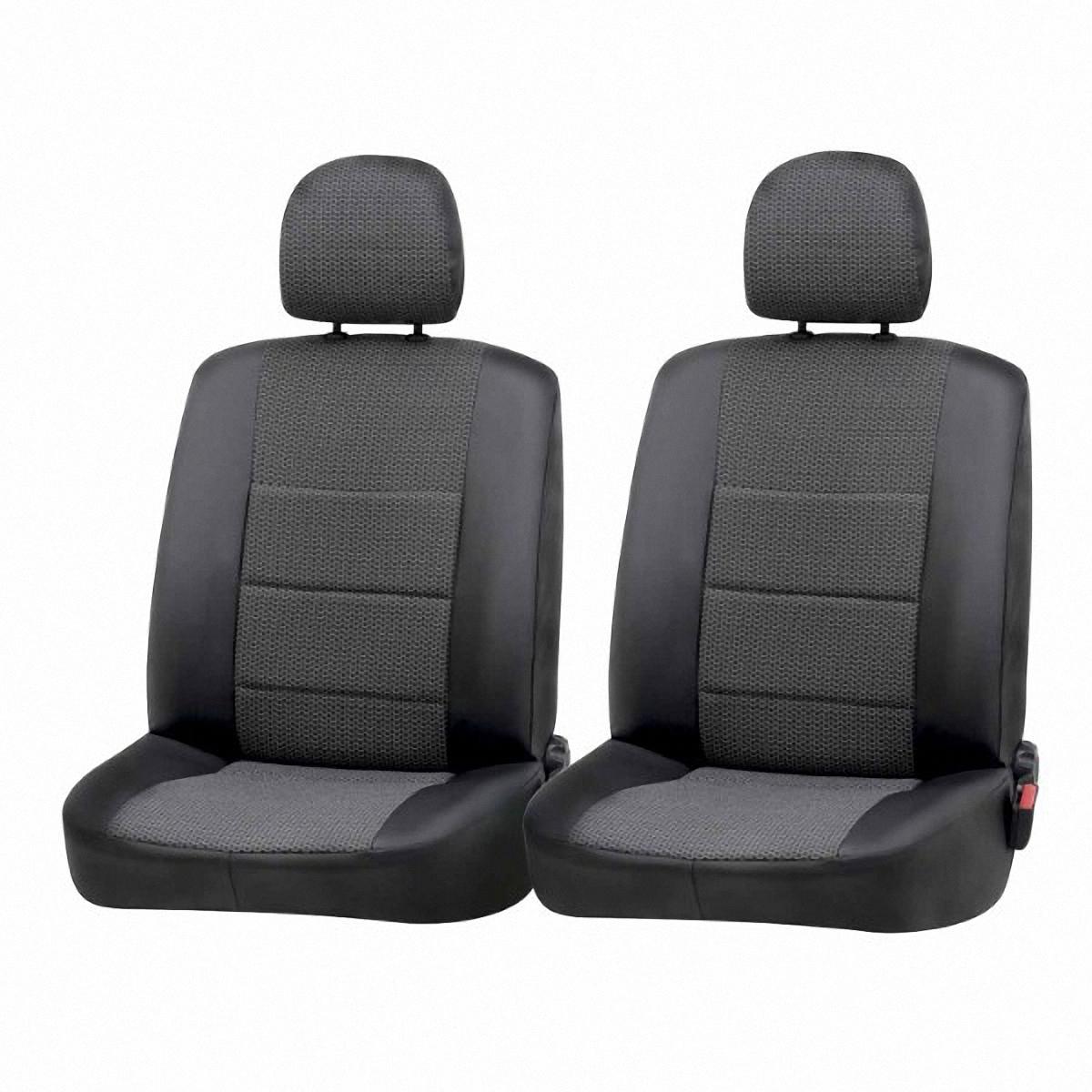 Чехол на сиденье Skyway Hyundai Solaris (седан), цвет: темно-серый, 11 предметов. Hnd1-2КHnd1-2КЧехлы на сиденья Skyway Hyundai Solaris с 2011 года седан изготовлены из экокожи и жаккарда точно по лекалам завода-изготовителя и сконструированы для модели автомобиля. Это гарантирует идеальную посадку и эстетический внешний вид. Прочный и надежный в эксплуатации материал сохраняет свои свойства на длительное время и не требует особого ухода.Универсальная система креплений в виде резинок и крючков позволяет надежно зафиксировать изделие, идеально повторяя контуры оригинальных сидений. Спинки передних сидений с карманами, которые можно использовать для хранения мелких предметов.Все швы, внутренние и внешние, а также технологические отверстия, обработаны на оверлоке. Материал чехла в 3 слоя толщиной 2 мм обеспечивает сохранность цвета, фактуры и формы в процессе длительной эксплуатации.В комплекте 11 чехлов.