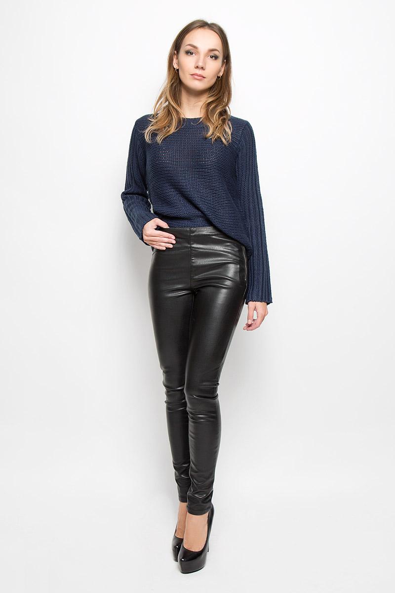 Брюки женские Vero Moda, цвет: черный. 10159416. Размер L-34 (46-34)10159416_BlackСтильные женские брюки Vero Moda, изготовленные из качественного материала, созданы для модных и ярких девушек. Модель средней посадки и зауженного кроя Изделие имеет оригинальную металлическую застежку-молнию на левом бедре. В этих модных брюках вы будете чувствовать себя уверенно, оставаясь в центре внимания.
