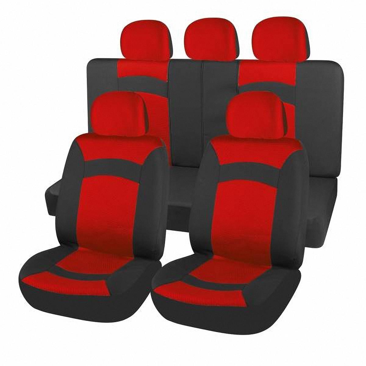 Чехлы автомобильные Skyway. S01301120S01301120Комплект классических универсальных автомобильных чехлов Skyway S01301120 изготовлен из полиэстера. Чехлы защитят обивку сидений от вытирания и выцветания. Благодаря структуре ткани, обеспечивается улучшенная вентиляция кресел, что позволяет сделать более комфортными долгое пребывание за рулем во время дальней поездки.