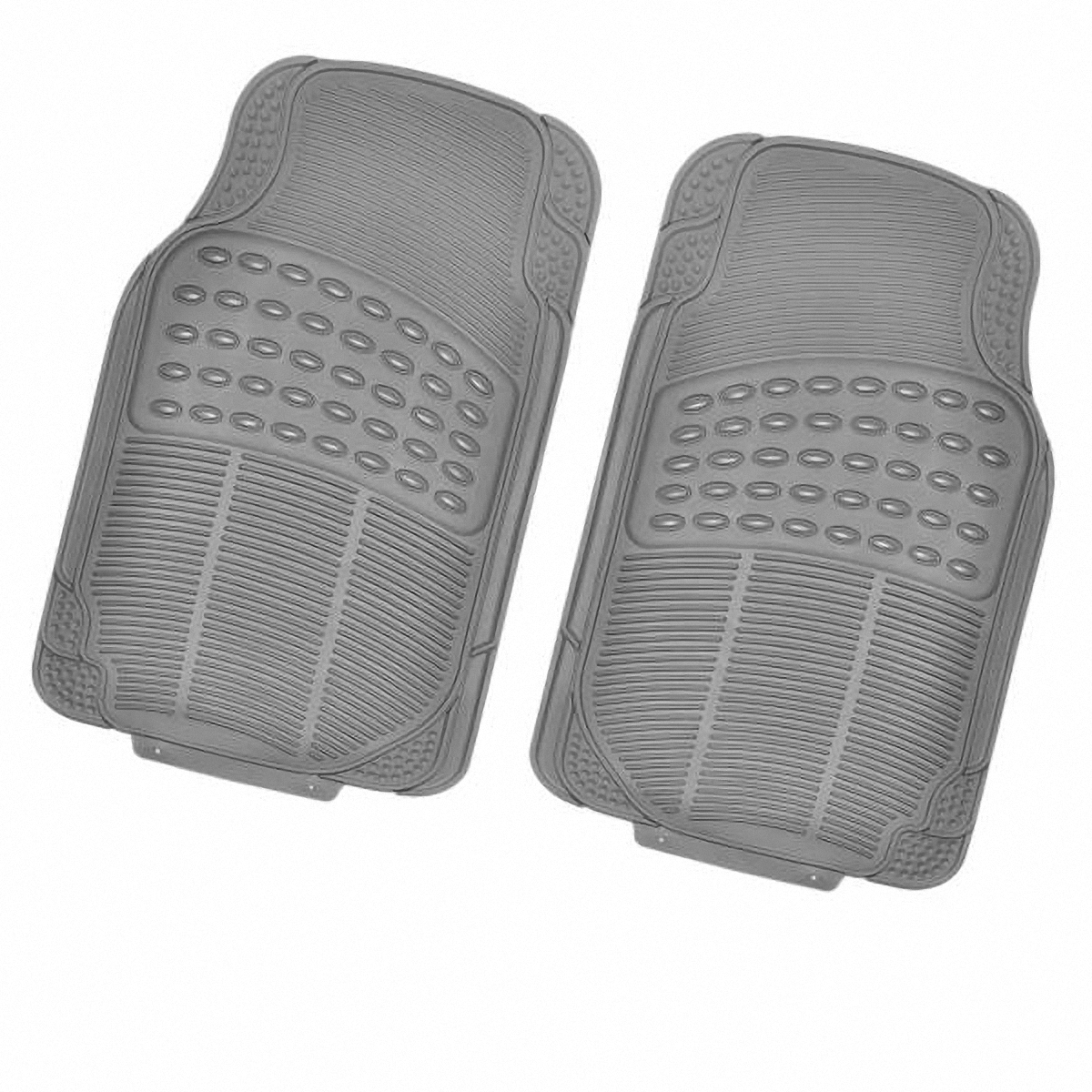Коврик в салон автомобиля Skyway, передний, цвет: серый, 71 х 44,5 см, 2 штS01701011Комплект универсальных передних ковриков салона сохраняет эластичность даже при экстремально низких и высоких температурах (от -50°С до +50°С). Обладает повышенной устойчивостью к износу и агрессивным средам, таким как антигололёдные реагенты, масло и топливо. Усовершенствованная конструкция изделия обеспечивает плотное прилегание и надёжную фиксацию коврика на полу автомобиля.Размер: 71 х 44,5 см.Комплектация: 2 шт.