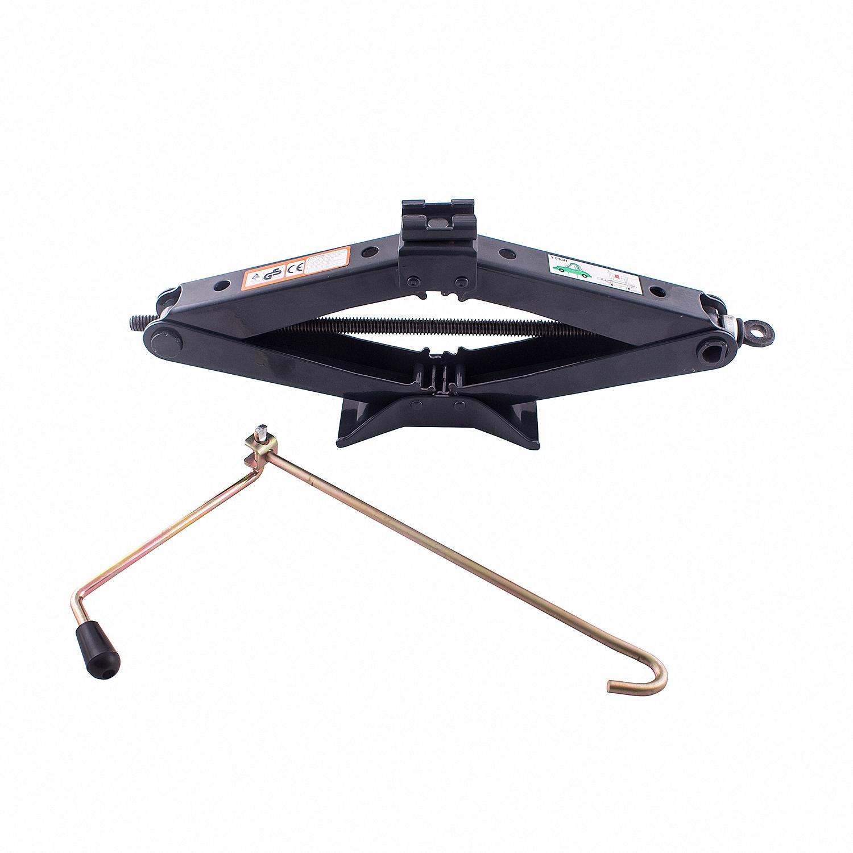 Домкрат ромбический Skyway, механический, 2 т. S01801005S01801005Механический ромбический домкрат Skyway предназначен для поднятия грузов. Домкрат отличается компактностью конструкции, простотой обслуживания и надежностью в эксплуатации. Домкрат имеет удобные ручки для плавного равномерного подъема при небольших усилиях.Полностью металлическая конструкция узлов и агрегатов обеспечивает высокую надежность и отказоустойчивость. В качестве несущих элементов используются четыре шарнирно-соединительных рычага, образующих ромб. Подъем груза происходит за счет изменения углов между рычагами, что приводит к увеличению или уменьшению расстояния между подхватом и опорной площадкой.Грузоподъемность: 2 т.Высота подъема: 98-410 мм.