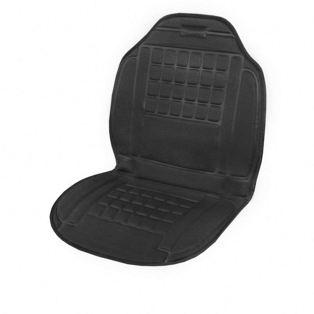 Подогрев для сиденья Skyway, со спинкой. S022010013S022010013Подогрев сиденья со спинкой с терморегулятором (2 режима) 12V; 2,5А-3А.Подогрев сидения – это сезонный товар и большой популярностью пользуется в осенне-зимний период. ТМ SKYWAY предлагает наружные подогревы сидений, изготовленные в виде накидки на автомобильное кресло. Преимущество наружных подогревов в простоте установки. Они крепятся ремнями к креслу автомобиля и подключаются к бортовой сети через гнездо прикуривателя.