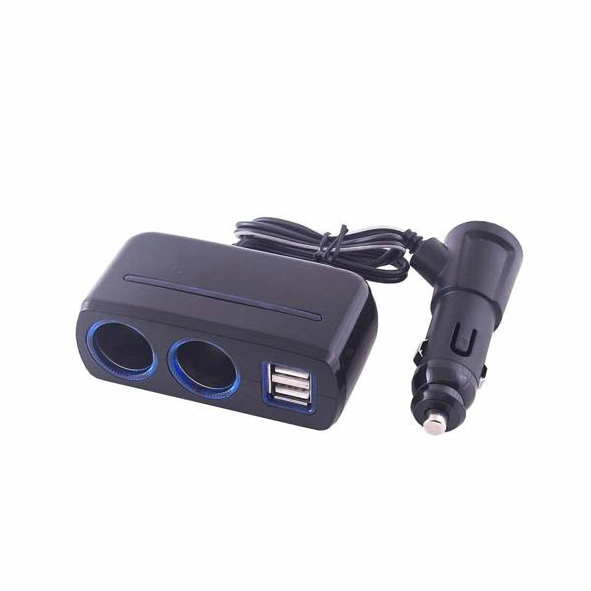 Разветвитель прикуривателя Skyway, 2 выхода + 3 USB. S02301020S02301020Разветвитель прикуривателя Skyway позволяет подключать устройства, имеющие стандартный разъем под прикуриватель, плюс устройства, имеющие разъем USB (блоки питания для ноутбука, кпк, сотового телефона, GPS-навигатора, антирадара, пылесоса, холодильника, различные зарядные устройства и многое другое). Устройство вращается на 180°, вверх и вниз. Устройство используется при мощности 7А. Общая мощность 80 Ватт. Предохранитель 5А.Потребляемая мощность 12-24 В.Количество гнезд: 2. Количество USB-портов: 3.