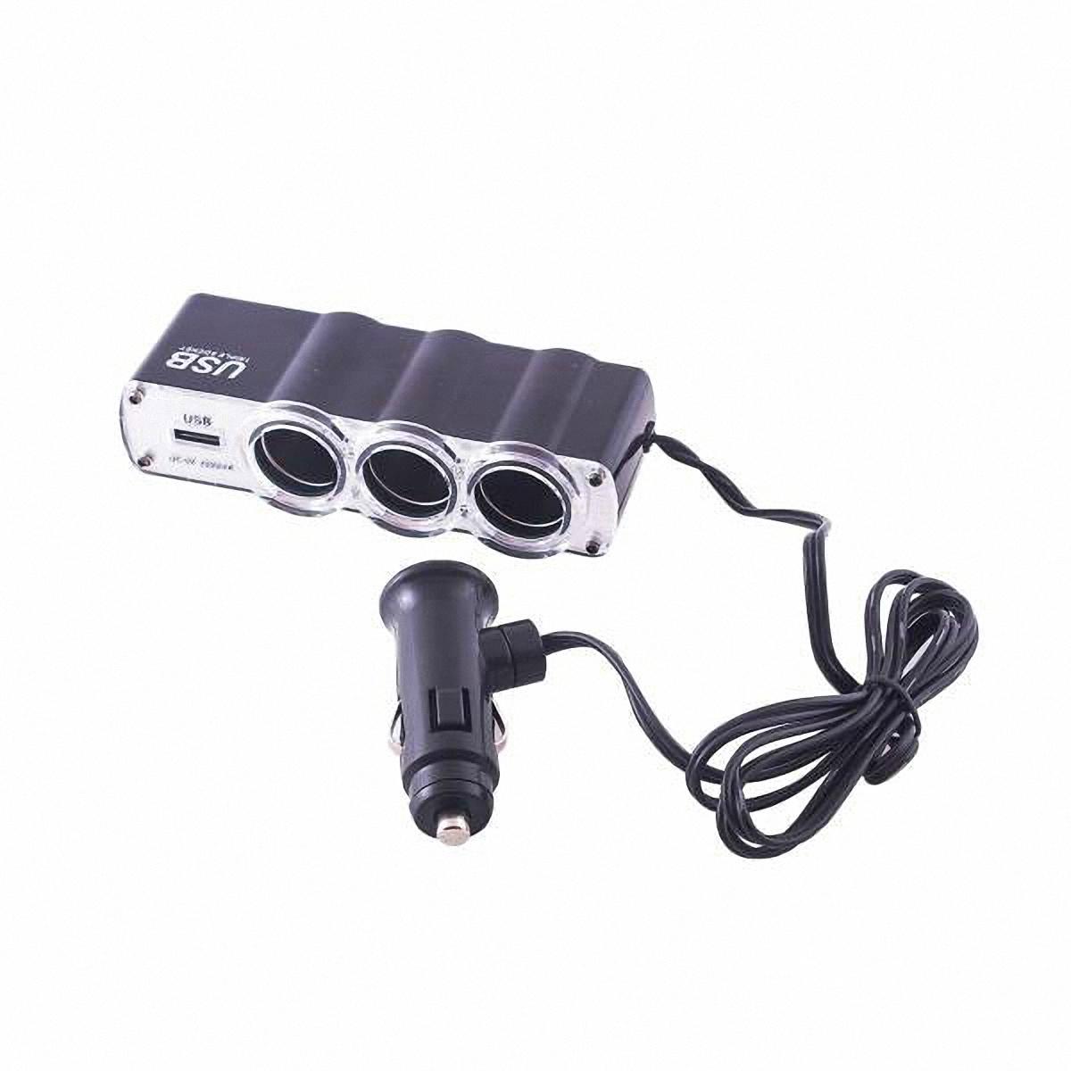 Skyway Разветвитель прикуривателя 3 гнезда + USB. S02301023S02301023Количество гнёзд: 3Количество USB-портов: 1 Устройство вращается на 180°, вверх и вниз.Устройство используется при мощности 7А.Общая мощность 80 Ватт Предохранитель 5 А. Потребляемая мощность 12 - 24 В