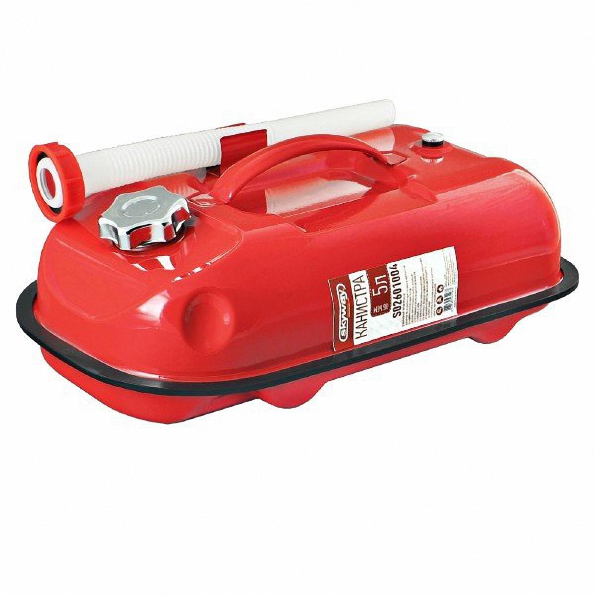 Канистра Skyway, цвет: красный, 5 л канистра для топлива zipower цвет красный 10 л