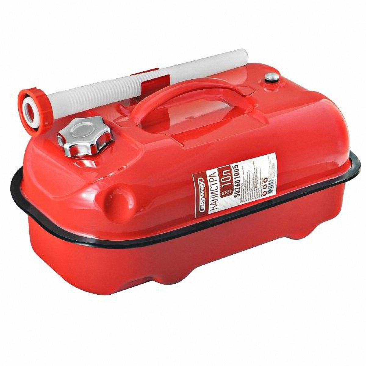 Канистра Skyway, цвет: красный, 10 л канистра для топлива dollex с носиком 10 л