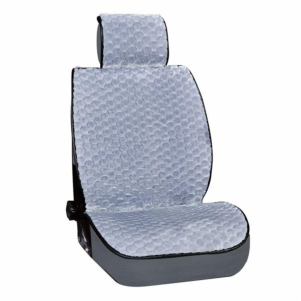 Накидка на сиденье Skyway, цвет: серый. S03001021S03001021Накидка на сиденье Skyway - это изящное сочетание стиля и качества. Выполненные из искусственного меха они расслабляют мышцы спины при поездке, благотворно влияя на позвоночник. Так просто получить ощущение легкого массажа. С ними салон становится уютнее, а сами сидения - удобнее.