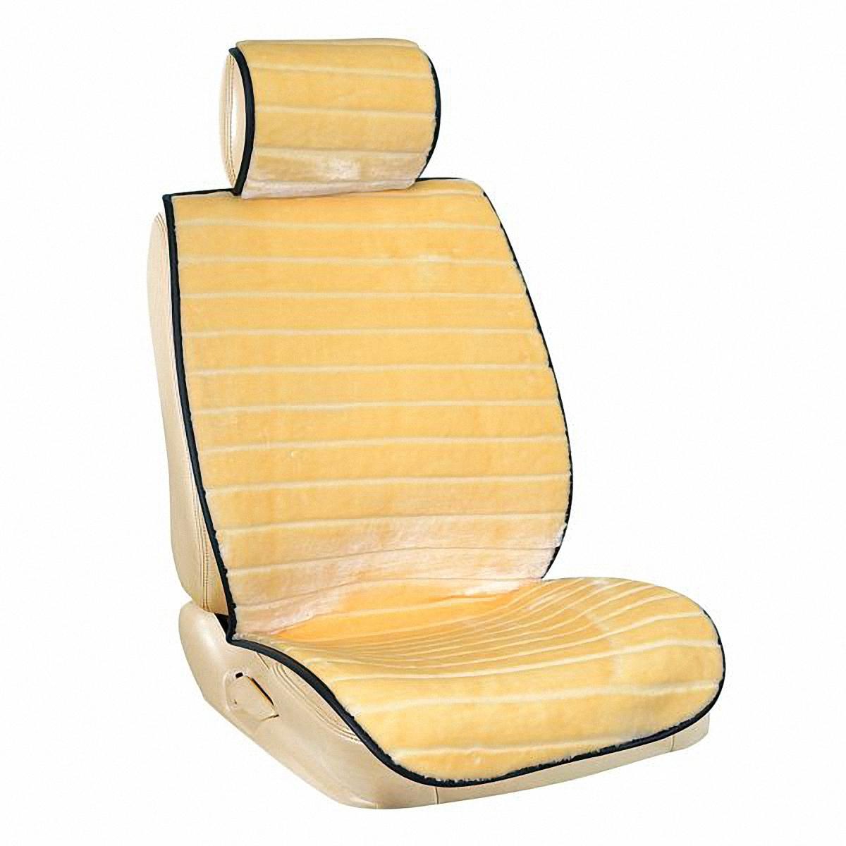 Накидки автомобильные Skyway, цвет: бежевый, 5 предметов. S03001065S03001065Накидка для сиденья Skyway выполнена из искусственного меха - мутон.Накидки из мягкого искусственного мутона согревают в зимнее время. Прекрасно дополняют интерьер салона любого автомобиля. Мягкие и очень приятные накидки предназначены для передних и задних сидений. Также в комплекте имеется перегородка на молнии для заднего сиденья и удобная накидка под шею, которая крепится к любому подголовнику при помощи резинки. Легкая установка облегчает использование, а высокотехнологичный материал не требует дополнительного ухода. Отличное решение в любое время года!В комплекте 5 предметов:Накидка на переднее сиденье со спинкой - 2 шт.Накидка под шею - 1 шт.Накидка на заднее сиденье (спинка) - 2 шт.Перегородка на молнии для заднего сиденья - 1 шт.Накидка на заднее сиденье - 1 шт.