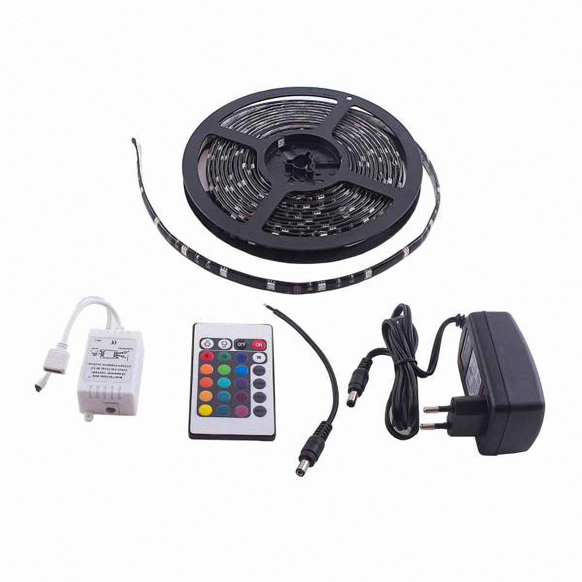 Лента светодиодная Skyway 150 SMD диодов. S03201028S03201028Ленту светодиодную Skyway возможно использовать внутри и снаружи автомобиля. Она легко крепится и имеет водонепроницаемую конструкцию. Входное напряжение: 12V.Длина: 500 см.Цвет основы: черный. В комплект входит пульт (контроллер). Характеристики контроллера: Рабочая температура: -20°С - +60°С.Размер: 62 х 35 х 23 мм. Масса нетто: 50 г.Максимальный ток нагрузки для каждого цвета: 2А. Напряжение питания: 12 V. Способ соединения: общий анод.