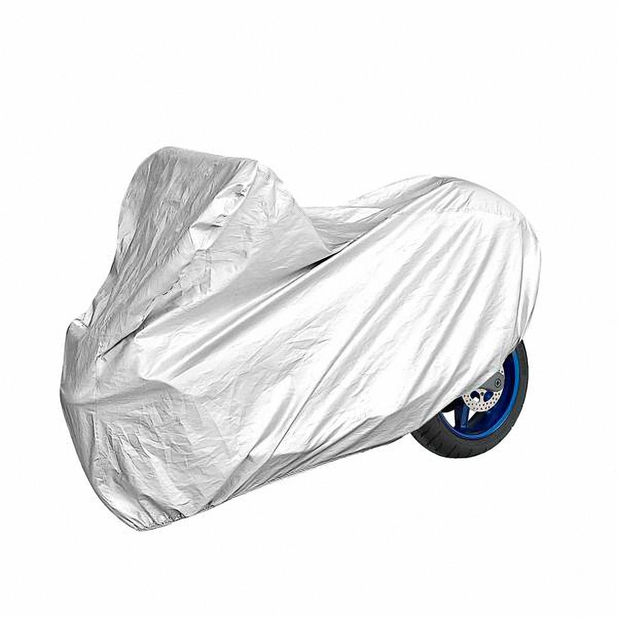 Чехол-тент на мотоцикл Skyway, 246 х 104 х 127 см. Размер XLS04402003Тент на мотоцикл позволит защитить кузов вашего транспортного средства от коррозии и загрязнений во время хранения или транспортировки, а вас избавит от необходимости его частого мытья. Чехол-тент предохраняет лакокрасочное покрытие кузова, стекла и фары вашего мотоцикла от воздействия прямых солнечных лучей и неблагоприятных погодных условий, загрязнений. Легко и быстро надевается на мотоцикл, не царапая и не повреждая его.Изготовлен из высококачественного полиэстера. В передней и задней части тента вшиты резинки, стягивающие его нижний край под передним и задним бамперами. Обладает высокой влаго- и износостойкостью. Обладает светоотражающими и пылезащитными свойствами. Выдерживает как низкие, так и высокие температуры. Воздухопроницаемый материал. Состав: полиэстер. Размер: 246 х 104 х 127 см.