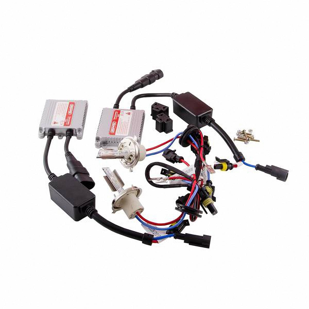 Skyway Автолампа ксенон H4. SH4 5000K D13 12V35WSH4 5000K D13 12V35WКомплектация:Лампа газоразрядная ксеноновая – 2 шт.Блок розжига – 2 шт.Винты для блока розжига – 6 шт.Гарантийный талон – 1 шт.Инструкция - 1 шт.