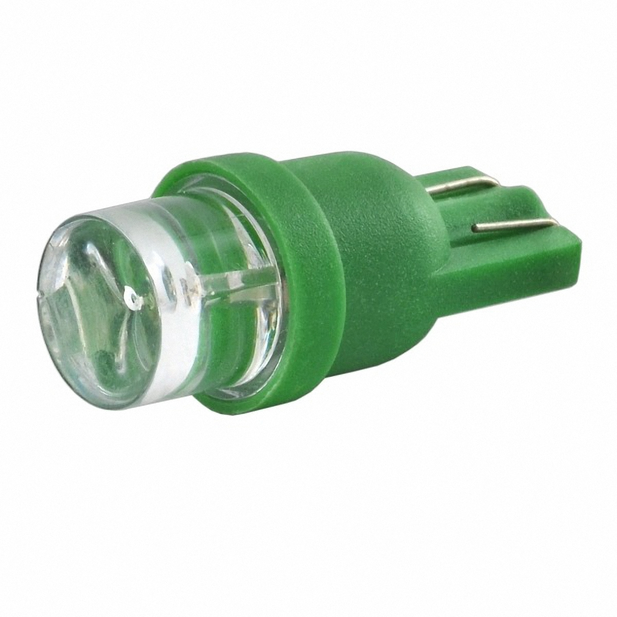 Skyway Автолампа диод T10 (W5W). ST10-1led (вогнутая) G (T10-1LED G)ST10-1led (вогнутая) G (T10-1LED G)1 диод без цоколя 1-контактная Конус Зеленая