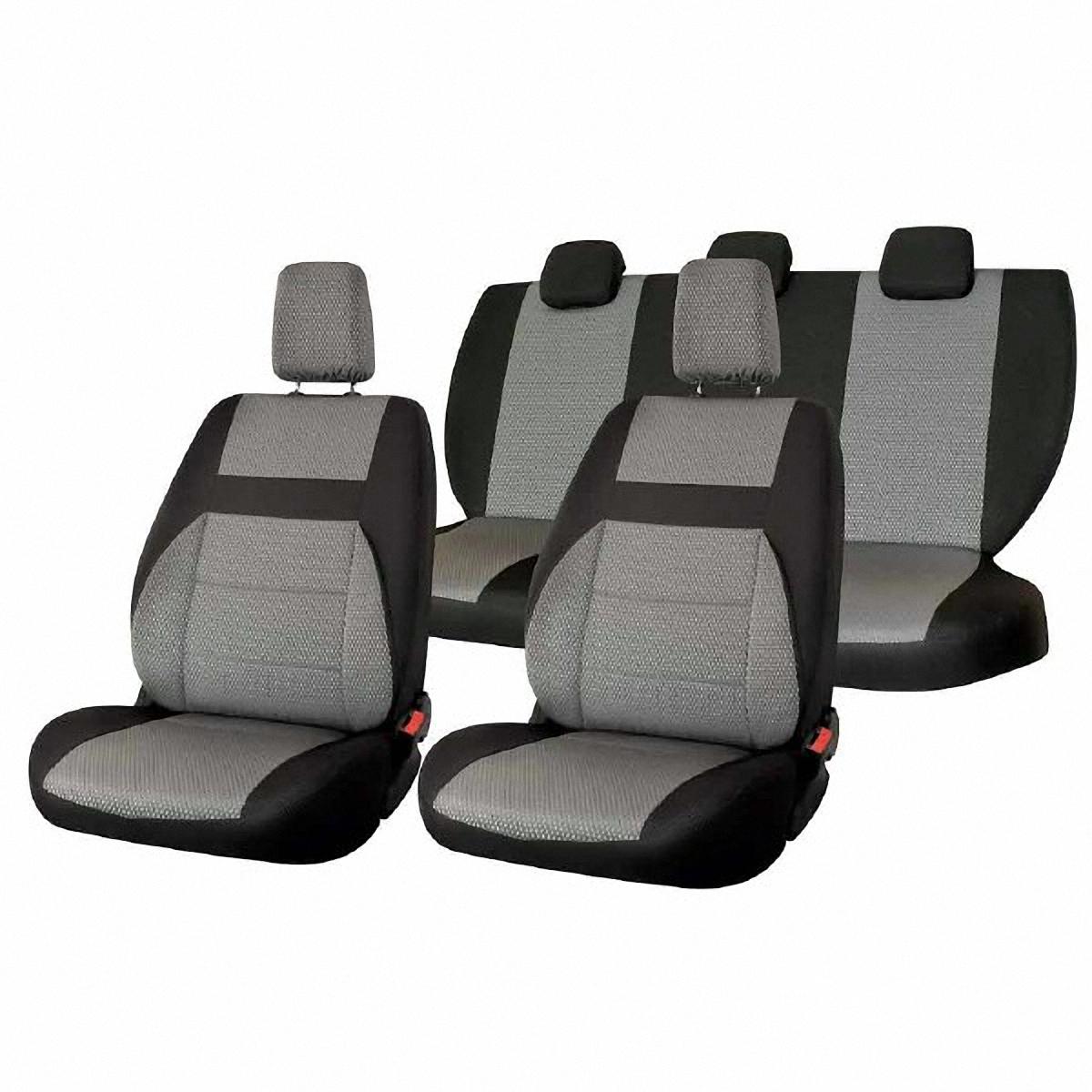 Чехлы автомобильные Skyway, для Lada Granta, цвет: светло-серыйV004-D1Автомобильные чехлы Skyway изготовлены из качественного жаккарда. Чехлы идеально повторяют штатную форму сидений и выглядят как оригинальная обивка сидений. Разработаны индивидуально для каждой модели автомобиля. Авточехлы Skyway просты в уходе - загрязнения легко удаляются влажной тканью. Чехлы имеют раздельную схему надевания. Заднее сиденье - сплошное.В комплекте 11 предметов.