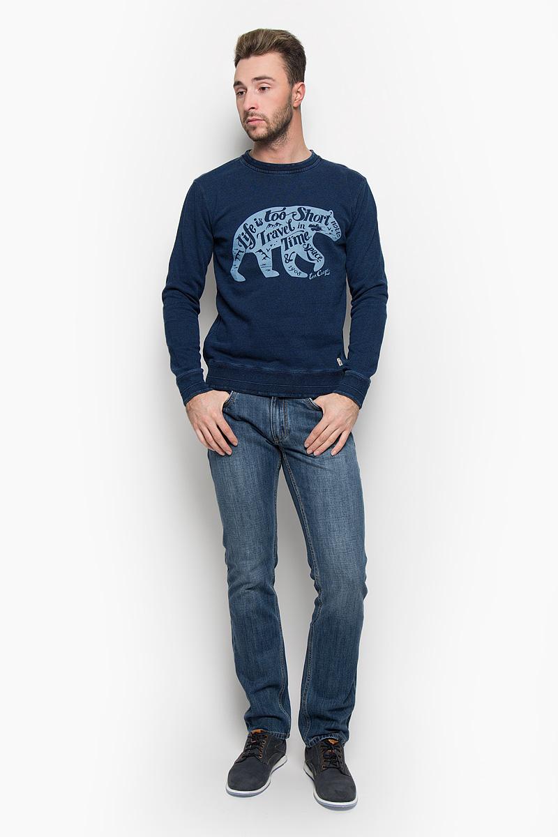 Толстовка мужская Lee Cooper, цвет: темно-синий. LCHMJ096. Размер L (50) платье lee cooper цвет белый desire 5094 размер l 50
