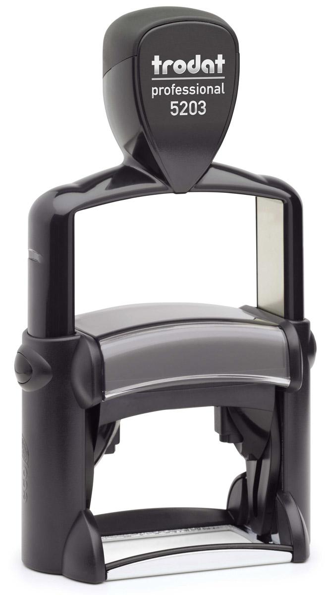 Trodat Оснастка для штампа 49 х 28 мм5203Оснастка для штампа Trodat будет незаменима в отделе кадров или в бухгалтерии любой компании.Прочный корпус с автоматическим окрашиванием гарантирует долговечное бесперебойное использование. Модель отличается высочайшим удобством в использовании и оптимально ложится в руку. Оттиск проставляется практически бесшумно, легким нажатием руки. Улучшенная конструкция и видимая площадь печати гарантируют качество и точность оттиска.Текстовые пластины прямоугольной формы 49 мм х 28 мм подойдут для изготовления клише по индивидуальному заказу.