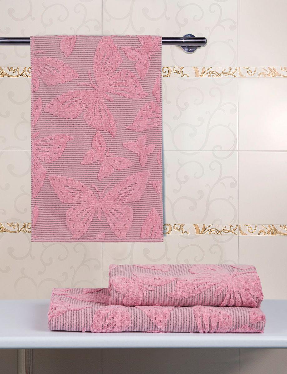 """При производстве полотенца Guten Morgen """"Баттерфляй"""" используется сырье самого высокого качества: безопасные красители и 100% хлопок. Полотенца - это просто необходимый атрибут каждой ванной комнаты в любом доме. Полотенца Guten Morgen отлично впитывают влагу, комфортны для кожи, не содержат аллергенных красителей, имеют стойкий к стирке цвет. Состав: 100% хлопок;  Размер: 34 х 76 см."""