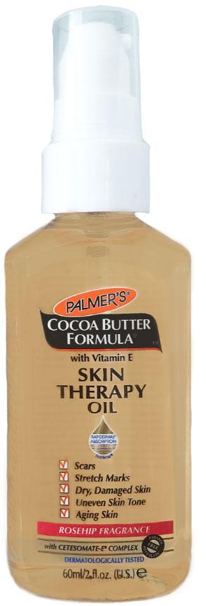 Palmers Масло интенсивного действия против растяжек с маслом какао и маслом шиповника 60 мл4158-6Масло для тела интенсивного воздействия против растяжек - многоцелевое средство, которое применяется по всему телу. Это средство, не содержащее консервантов, состоит из эксклюзивного комплекса ключевых ингредиентов: чистое масло какао, витамин Е, кунжутное масло, масло шиповника, которые способствуют улучшению состояния кожи, уменьшают проявления растяжек, шрамов, сухости, повреждения кожи, а также эффективно выравнивает тон кожи, сглаживает линии и морщинок на коже.Имеет уникальную текстуру сухого нежирного масла. После применения кожа моментально преображается, смягчается, выравнивается ее тон. Флакон имеет специальный дозатор для удобства применения.