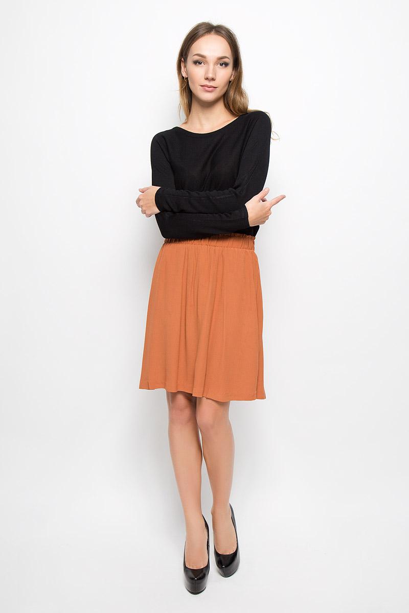 Купить Юбка женская Selected Femme, цвет: бежево-коричневый. 16051840. Размер 38 (44)