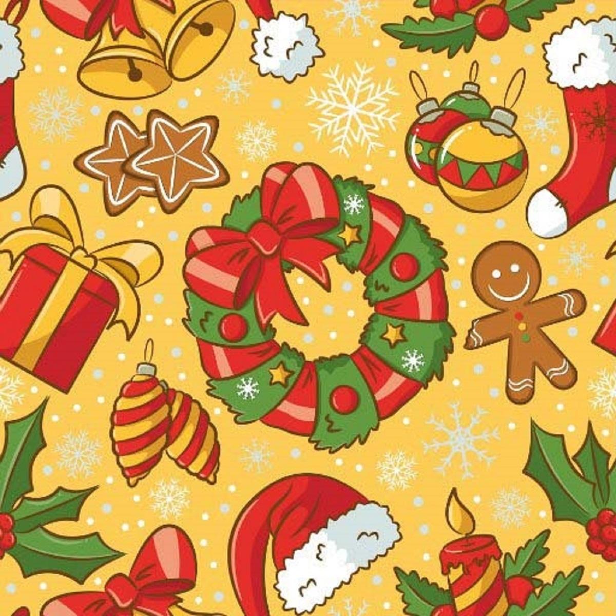 Салфетки бумажные Gratias Рождество, цвет: желтый, трехслойные, 33 х 33 см, 20 шт92223Для бытового и санитарно-гигиенического назначения одноразового использования.