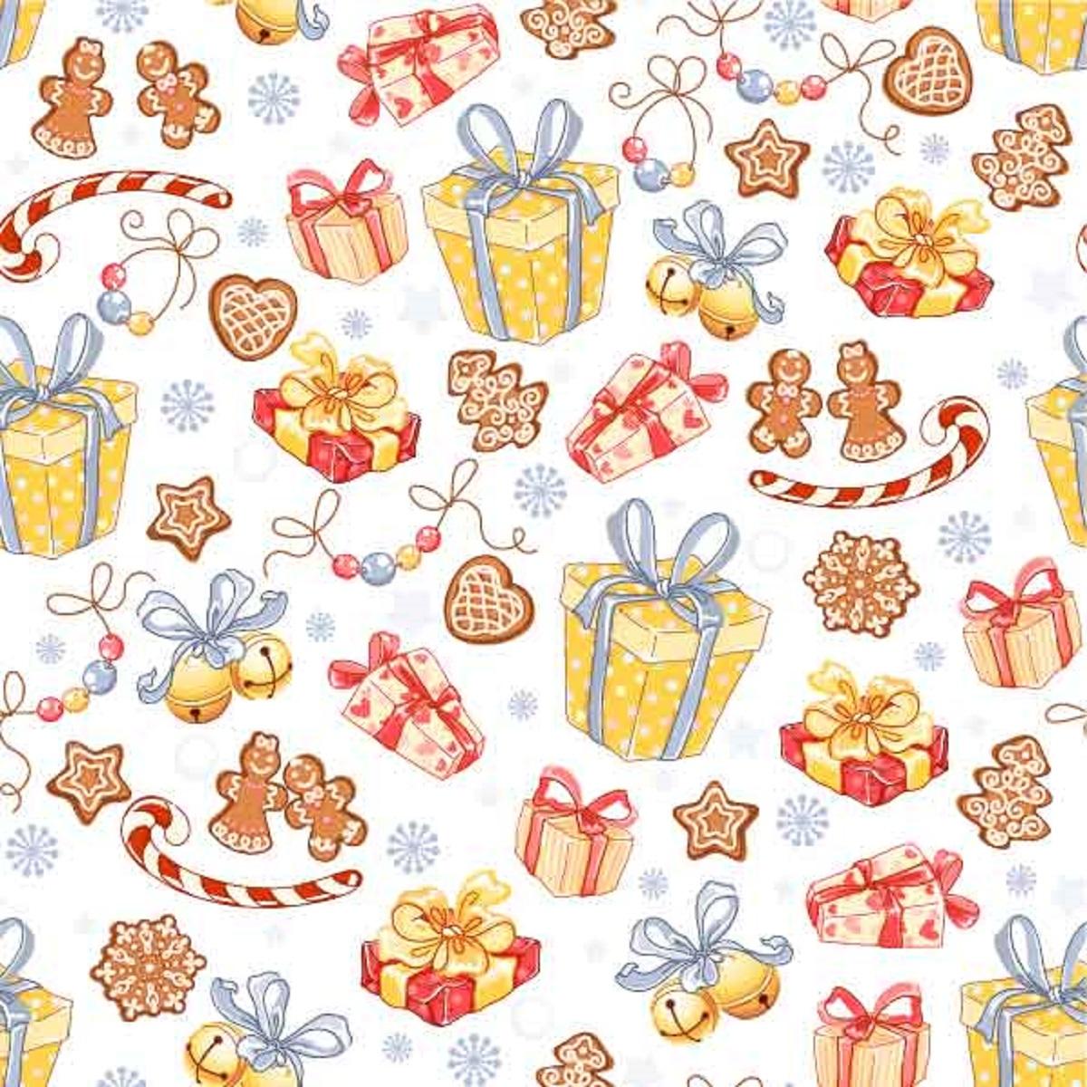 Салфетки бумажные Gratias Подарки и сладости, трехслойные, 33 х 33 см, 20 шт92285Трехслойные бумажные салфетки Gratias Подарки и сладости, выполненные из натуральной целлюлозы, станут отличным дополнением любого праздничного стола. Они отличаются необычной мягкостью и прочностью. Размер листа: 33 х 33 см. Количество слоев: 3.