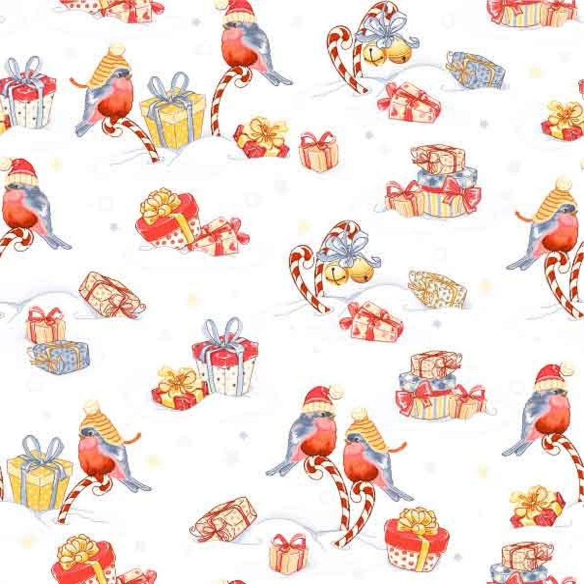 Салфетки бумажные Gratias Снегири и подарки, трехслойные, 33 х 33 см, 20 шт92292Трехслойные бумажные салфетки Gratias Снегири и подарки,выполненные из натуральной целлюлозы, станутотличным дополнением любого праздничного стола. Ониотличаются необычной мягкостью и прочностью.Размер листа: 33 х 33 см.Количество слоев: 3.