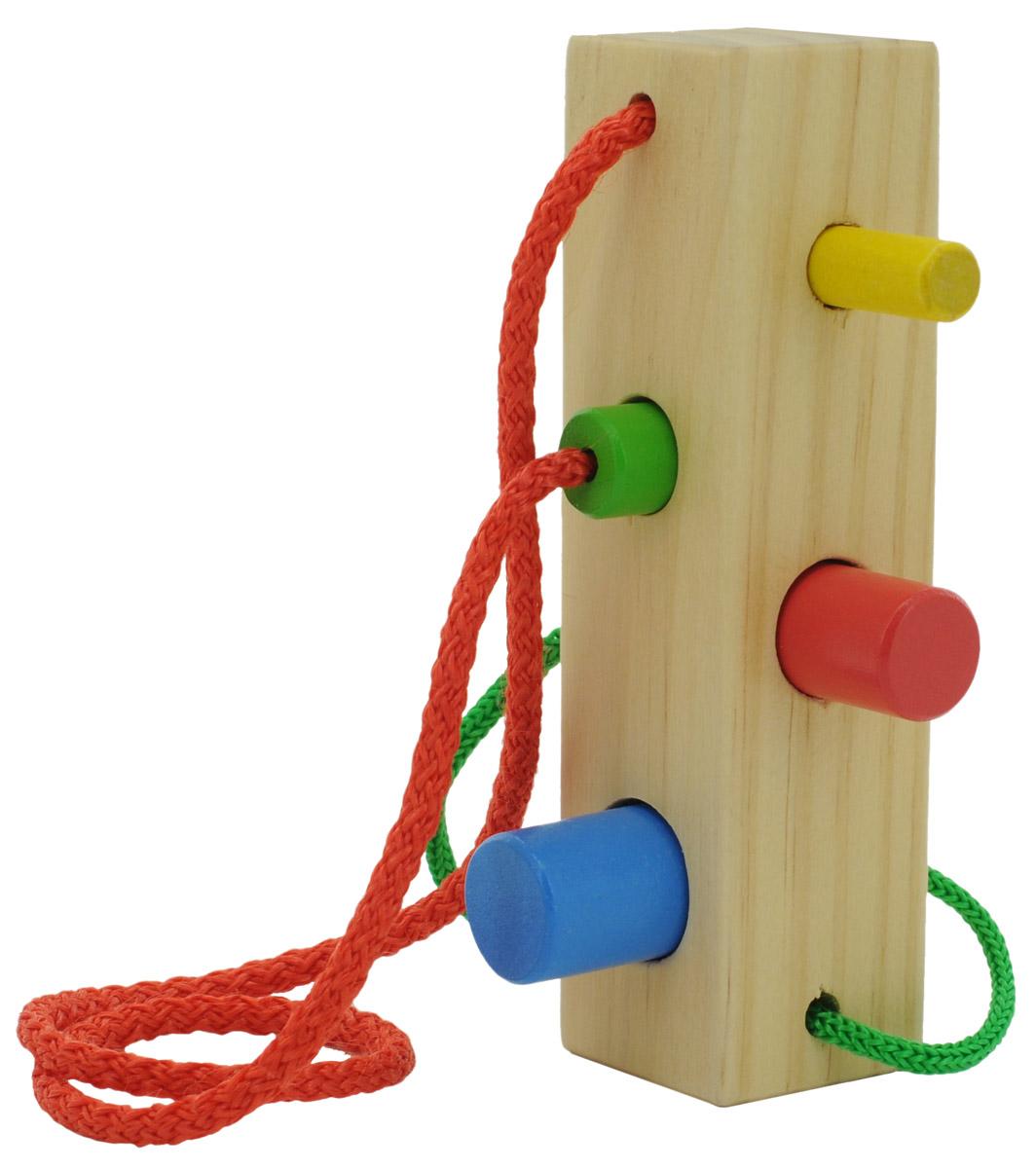Мир деревянных игрушек Шнуровка-сортер Брусочек игрушка мир деревянных игрушек лабиринт слон д345