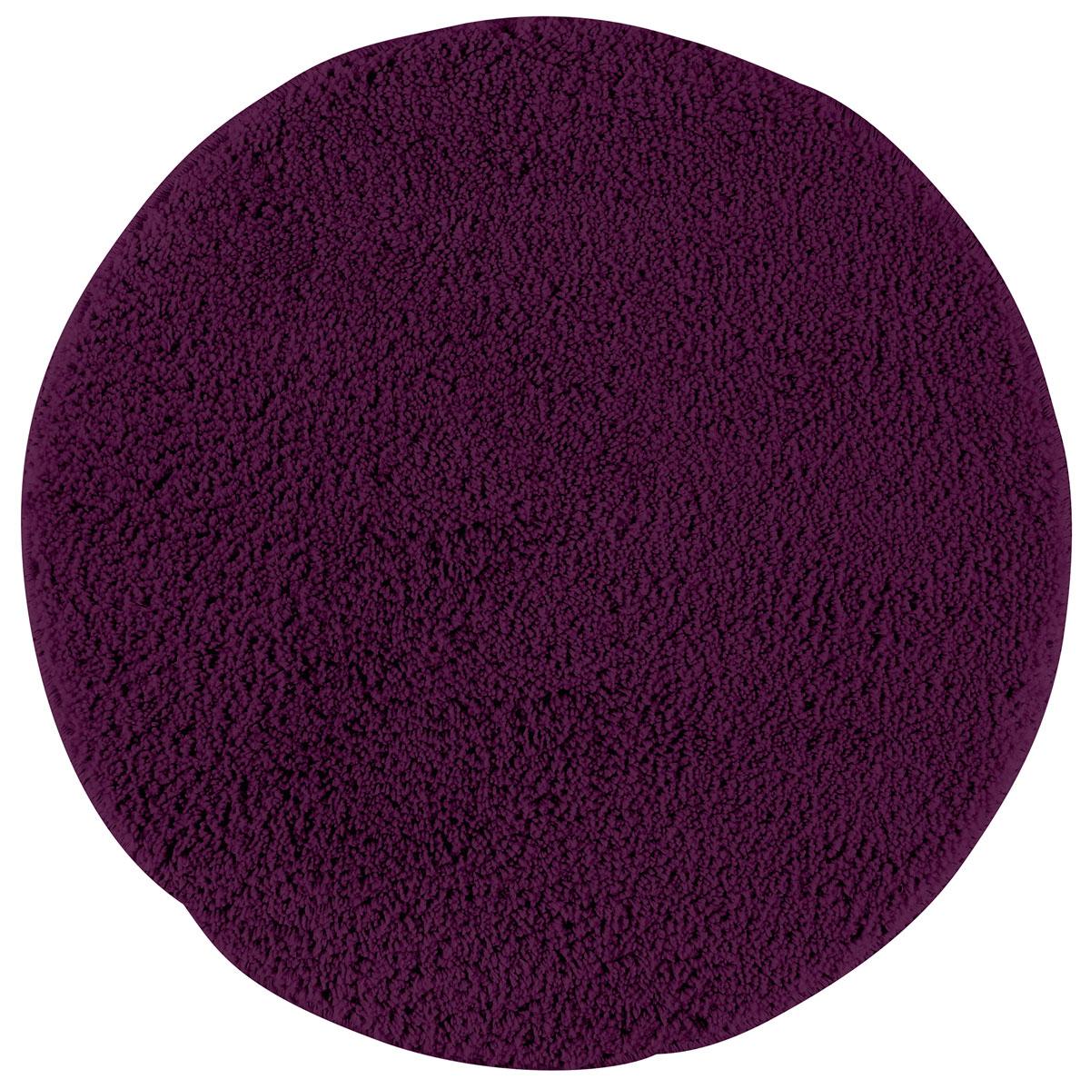 Коврик для ванной Axentia, противоскользящий, цвет: фиолетовый, диаметр 50 см116066Круглый коврик для ванной комнаты Axentia выполнен из высококачественной микрофибры. Противоскользящее основание изготовлено из термопластичной резины и подходит для полов с подогревом. Коврик стеганый, мягкий и приятный на ощупь, отлично впитывает влагу и быстро сохнет. Высокая износостойкость коврика и стойкость цвета позволит вам наслаждаться покупкой долгие годы.Можно стирать в стиральной машине. Диаметр коврика: 50 см. Высота ворса: 1,5 см.