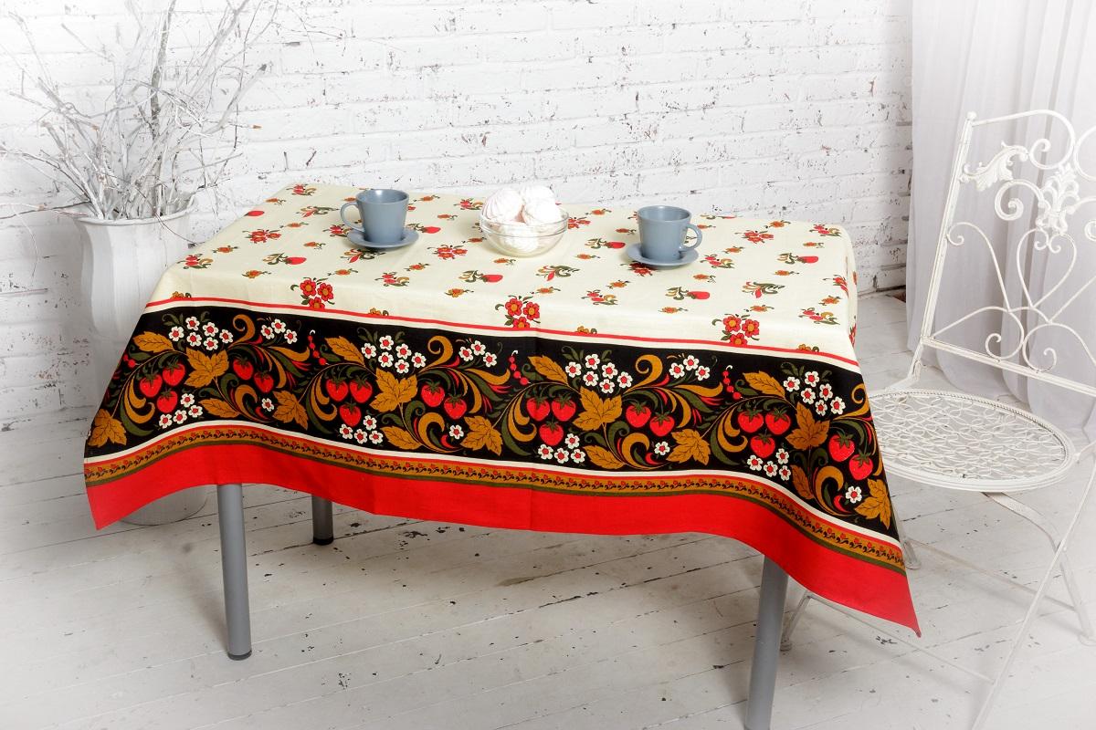 Скатерть Гаврилов-Ямский Лен, прямоугольная, 120 х 144 см. 1со67361со6736Недорогая яркая скатерть из натурального хлопка на обеденный стол - простой способ придать ещё больше уюта вашему дому!
