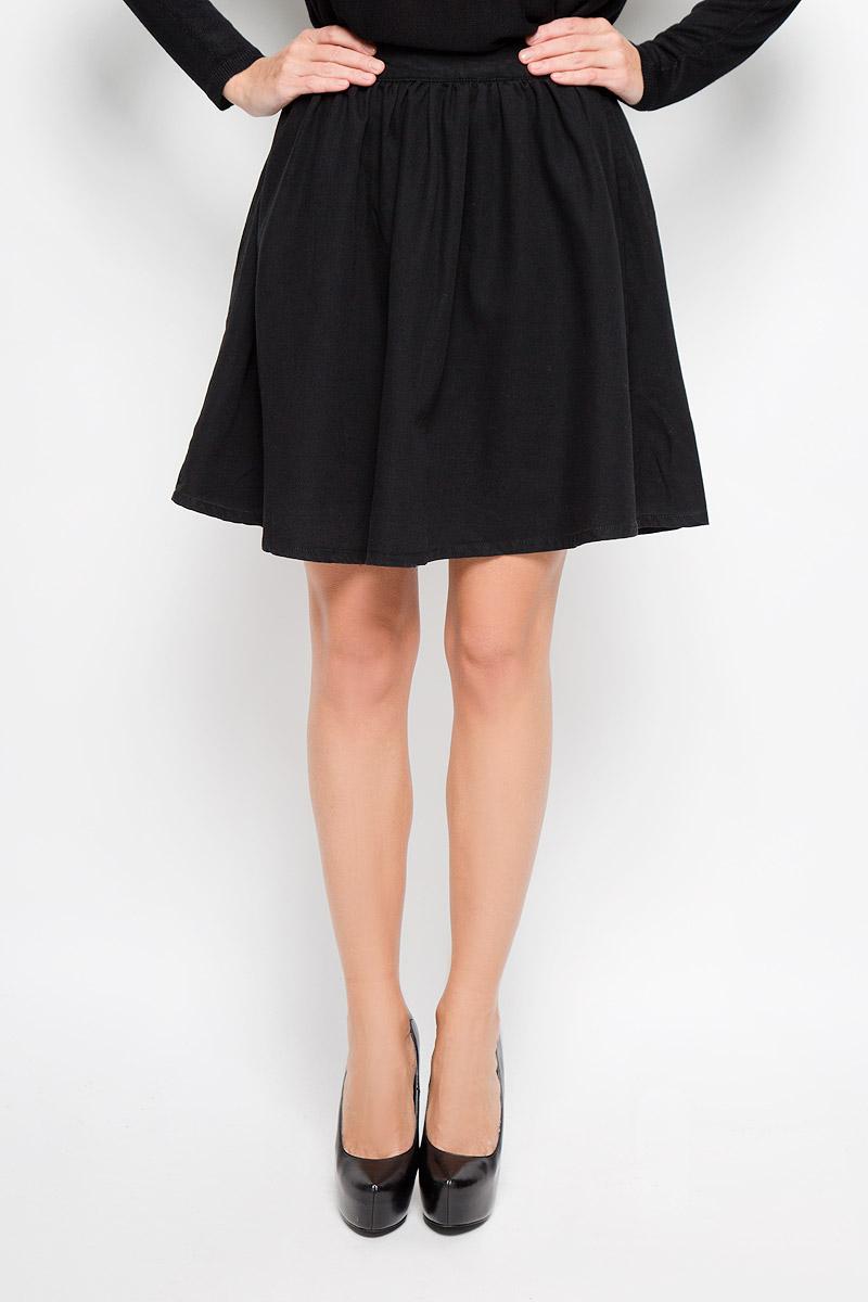 Юбка Vero Moda, цвет: черный. 10163640. Размер S (42) модная