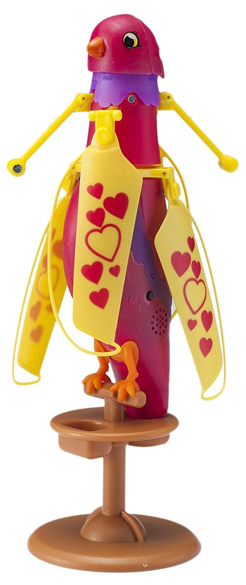Zipppi Pets Интерактивная игрушка Летающая птичка цвет малиновый - Интерактивные игрушки