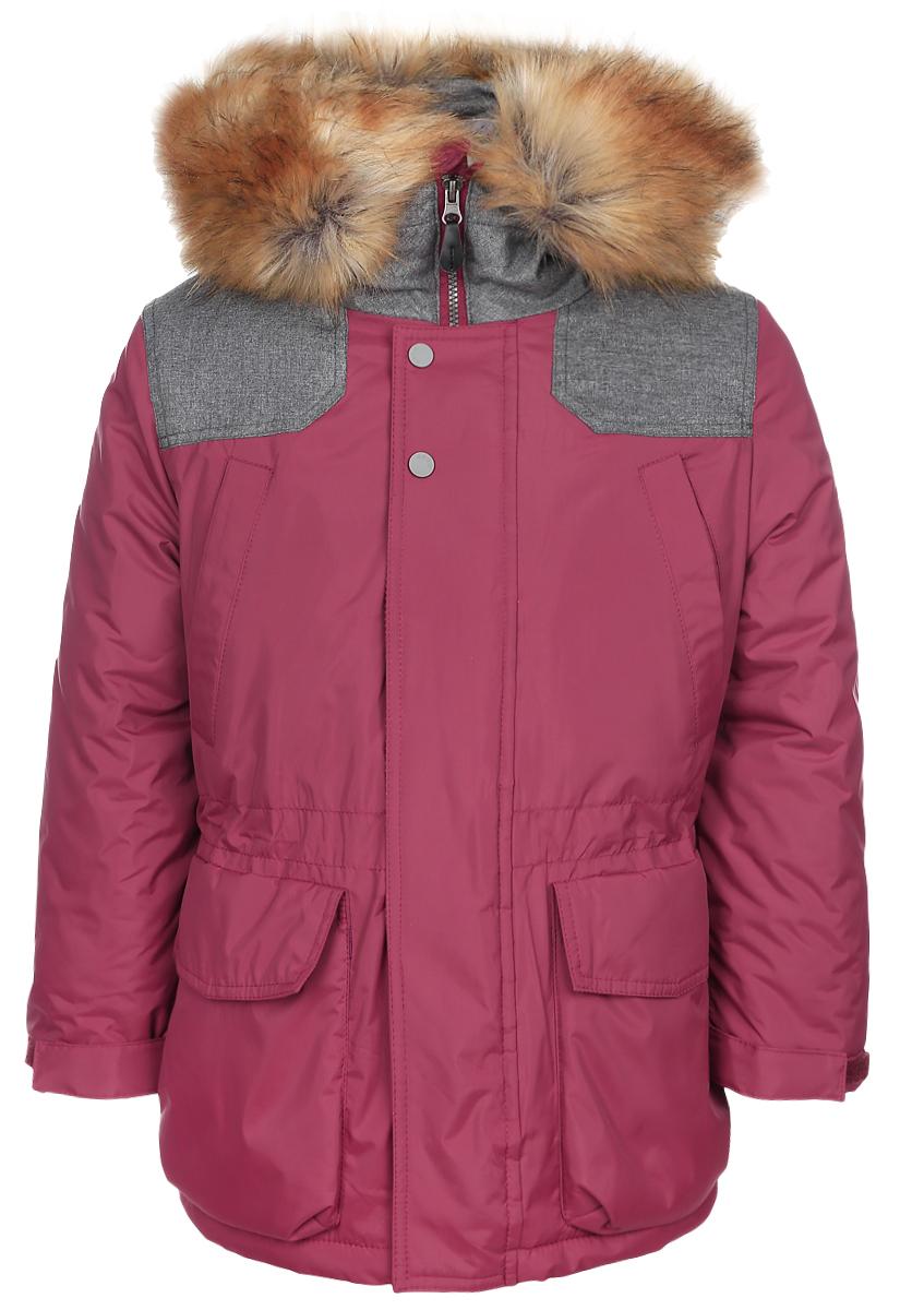 Куртка для мальчика Boom!, цвет: красный. 64364_BOB_вар.2. Размер 98