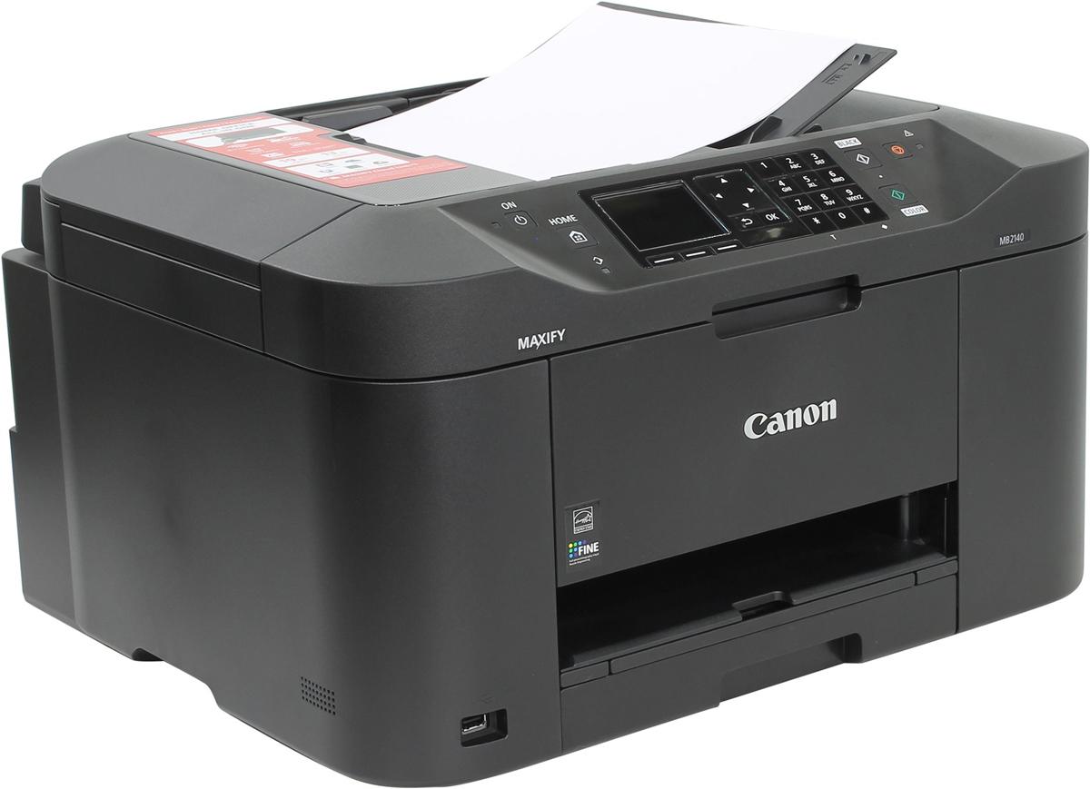 Canon Maxify MB2140 (0959C007) МФУ0959C007Универсальный принтер, сканер, копир и факс, разработанный для домашних офисов, в которых требуется монохромная и цветная печать высокого качества с низкими расходами. Canon Maxify MB2140, оснащенное устройством автоматической подачи документов на 50 листов и кассетой на 250 листов, обеспечивает исключительные результаты печати с яркой цветопередачей и высокой четкостью текста за счет использования чернил DRHD, устойчивых к стиранию и маркерам. Canon Maxify MB2140 позволяет выполнять печать на бумаге формата A4 с высокой скоростью — 19 изображений в минуту в монохромном режиме и 13 изображений в минуту в цветном режиме, а время вывода первой страницы (FPOT) составляет всего 6 секунд.Основной особенностью этого устройства является его экономичность — от низкого потребления энергии всего 0,2 кВт/ч (обычное потребление энергии) до цветных картриджей с большим ресурсом и возможностью индивидуальной замены. Черные картриджи имеют ресурс 1200 страниц в соответствии со стандартом ISO, а цветные картриджи — 900 страниц, что обеспечивает долгую непрерывную печать. Дополнительно приобретаемый 4-цветный экономичный набор обеспечивает еще более экономичную печать.Двусторонняя печать и поддержка различных форматов и типов бумаги — от обычной бумаги формата A4 до этикеток, конвертов, фотобумаги и даже двустороннего копирования удостоверений личности — упрощает выполнение общих заданий офисной печати. Созданное для гарантии высокой производительности, это устройство отличается высокой скоростью работы и простотой использования: любую операцию, будь то печать, копирование, сканирование или факс, легко выполнить благодаря цветному TFT-экрану с диагональю 6,2 см (2,5) устройства Canon Maxify MB2140.Поддерживаются сервисы Виртуальный принтер Google, Apple AirPrint (iOS), Mopria и приложение Canon PRINT, а также печать из облака и даже сканирование и сохранение документов на популярных облачных сервисах, включая Google Drive, Dropbox, Evernote,