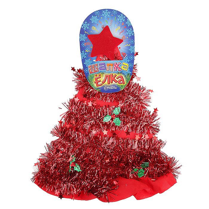"""Карнавальная шляпа Sima-land """"Елочка"""", цвет: красный. 305792"""