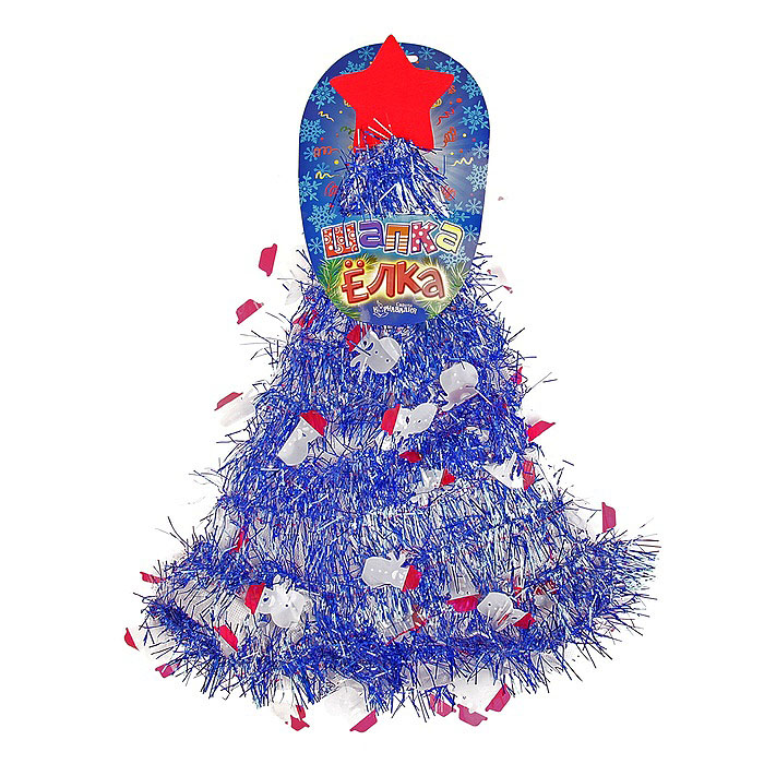 Карнавальная шляпа Sima-land  Елочка со снеговиками . 305793 -  Карнавальные костюмы и аксессуары