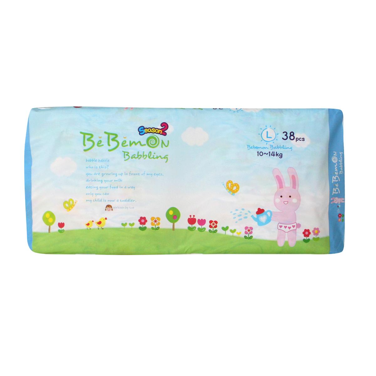 Bebemon Подгузники детские Band 10-14 кг размер L 38 шт