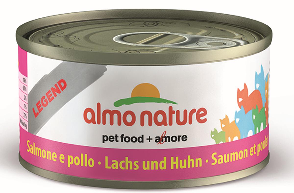 """Консервы для кошек Almo Nature """"Legend"""", с курицей и лососем, 70 г"""
