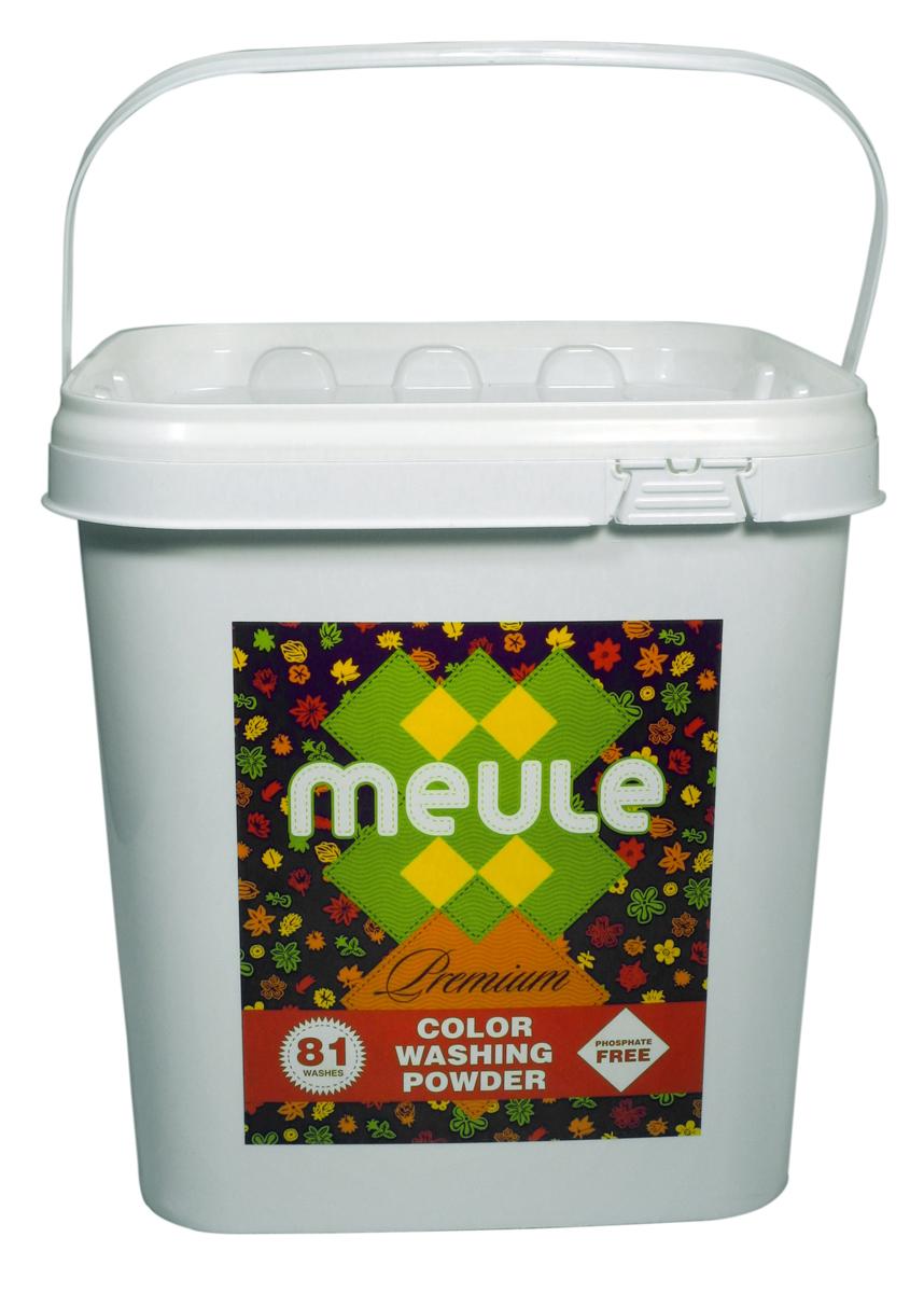 Порошок стиральный Meule, концентрат, для цветного белья, 3 кг7290104930058MEULE Premium Color Washing Powder (81 стирка) - это бесфосфатный концентрированный стиральный порошок для цветного белья, высокого качества. Подходит для белых и цветных тканей, изделий из хлопка, льна и синтетики. Отстирывает пятна и загрязнения различного происхождения, сохраняя структуру ткани. Препятствует образованию ворсистости (катышков) на одежде. Рекомендуемый диапазон температур (30С - 40С). Предотвращает образование накипи.Полностью выполаскивается.Подходит для всех типов стиральных машин.