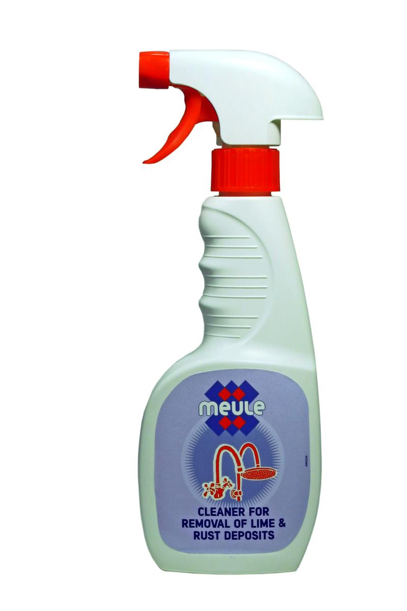Средство чистящее Meule Anti Calk, для удаления грибка, плесени, известкового налета и ржавчины, 450 мл7290104930874Meule Anti Calk - это чистящее средство для удаления грибка, плесени, известкового налета и ржавчины. Оно мгновенно очищает поверхности раковин, унитазов, кранов, предметов из нержавеющей стали от известкового налёта, ржавчины, плесени и грибка.Эффективно против застарелых пятен.Как выбрать качественную бытовую химию, безопасную для природы и людей. Статья OZON Гид