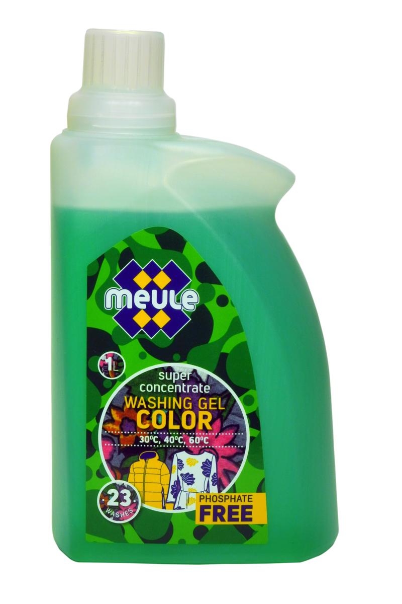 Гель для стирки Meule, концентрат, для цветного белья и пуховиков, 1 л7290701369602Meule Gel Color Green- это концентрированный гель для стирки цветного белья и пуховиков. Сохраняет и поддерживает яркость первоначального цвета изделий. Препятствует перетеканию цвета, идеальное решение для тканей со смешанной цветовой гаммой. Обладает высокой моющей способностью, эффективно удаляет пятна и загрязнения, сохраняя структуру ткани. Препятствует образованию ворсистости (катышков) на одежде. Рекомендуется использовать при температуре 30 - 60С. Предотвращает образование накипи. Полностью выполаскивается.Количество стирок: 23.