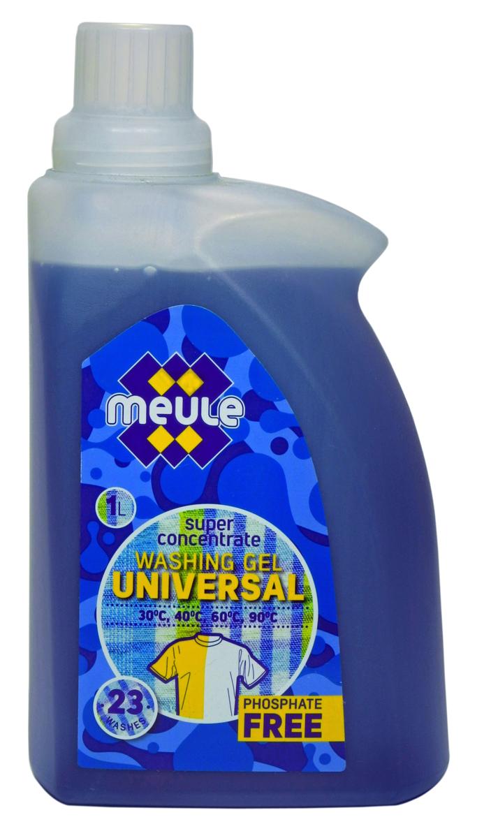 Гель для стирки Meule, концентрат, универсальный, 1 л7290701370608Meule Gel Universal - это концентрированный универсальный гель для стирки. Он подходит для машинной и ручной стирки в жесткой и мягкой воде.Гель обладает высокой моющей способностью, эффективно удаляет пятна и загрязнения, сохраняя структуру ткани. Препятствует образованию ворсистости (катышков) на одежде. Рекомендуется использовать при температурах от 30 до 90 С. Предотвращает образование накипи. Полностью выполаскивается. Количество стирок: 23.Уважаемые клиенты! Обращаем ваше внимание на то, что упаковка может иметь несколько видов дизайна. Поставка осуществляется в зависимости от наличия на складе.