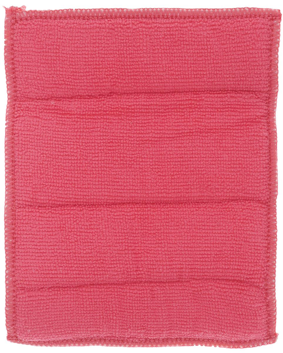 Салфетка для стеклокерамики Хозяюшка Мила, цвет: серебристый, розовый, 21 х 17 см4024_серебристый, розовый/04024Салфетка для стеклокерамических плит Хозяюшка Мила станет незаменимым помощником на кухне. Жесткая сторона из фольгированного материала предназначена для очистки сильно загрязненных поверхностей. Мягкая сторона из микрофибры прекрасно впитывает влагу, удаляет грязь и пыль с деликатных поверхностей.