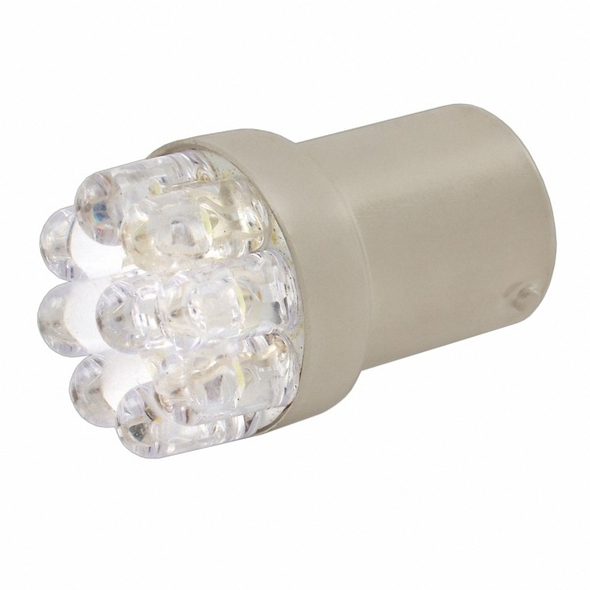 Skyway Автолампа диод T18(R10W). ST18-7LED/SG18-7LEDST18-7LED/SG18-7LED7 диодов с цоколем BA9S 1-контактная Белая